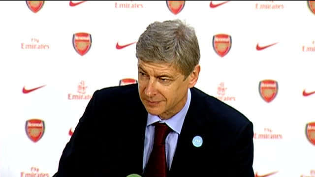 Arsenal v Liverpool postmatch press conference Arsene Wenger press conference SOT On Adebayor's sending off disappointed Arsenal didn't win / On not...