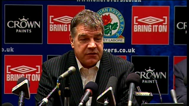 blackburn rovers sam allardyce press conference allardyce press conference sot feels sad for ince as he has been in same position / believes ince... - things that go together stock videos & royalty-free footage