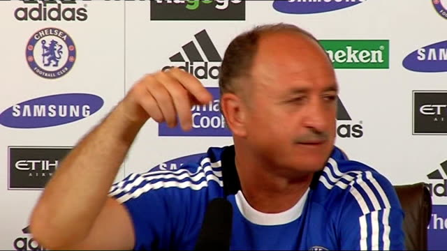 Chelsea FC press conference Scolari press conference SOT Robinho only one player / Good player but he plays for another team and that is finished /...