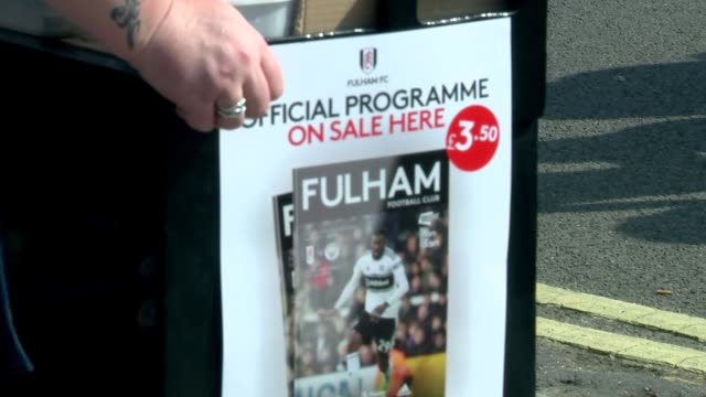 fans arriving at fulham fc england london fulham ext various of football supporters arriving at the craven cottage home of fulham fc ahead of their... - sportliga stock-videos und b-roll-filmmaterial