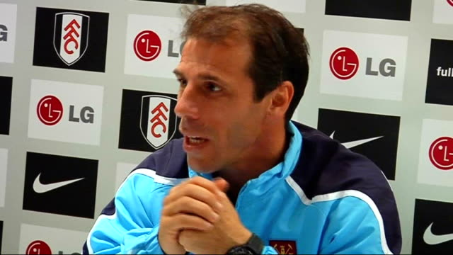 Fulham v West Ham United postmatch press conference I've been working with this team for 2 weeks obviously they know what kind of football I want to...