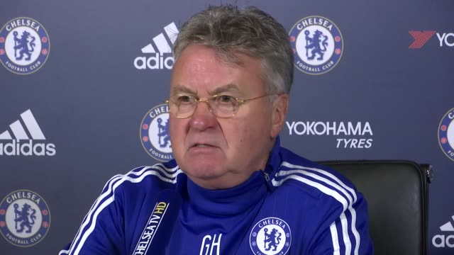 cobham surrey int guus hiddink press conference sot [on didier drogba] those rare kind of explayers with this big status they would be very good for... - cobham surrey stock videos and b-roll footage