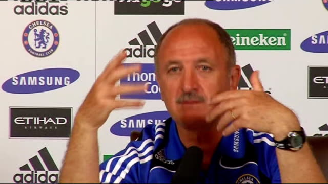 Luis Felipe Scolari Chelsea FC press conference Now he coaches Chelsea he never says anything about other national teams / On Andriy Shevchenko and...