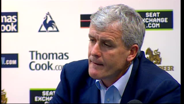 Manchester City Mark Hughes and Shaun WrightPhillips press conference Hughes press conference SOT Understands that people have interest in owner of...