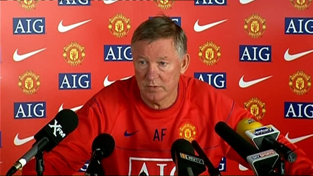 Manchester United Sir Alex Ferguson press conference Ferguson press conference SOT Compares qualities of Maradona and Pele