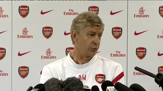 Manchester United v Arsenal preview London Emirates Stadium INT Wenger press conference SOT