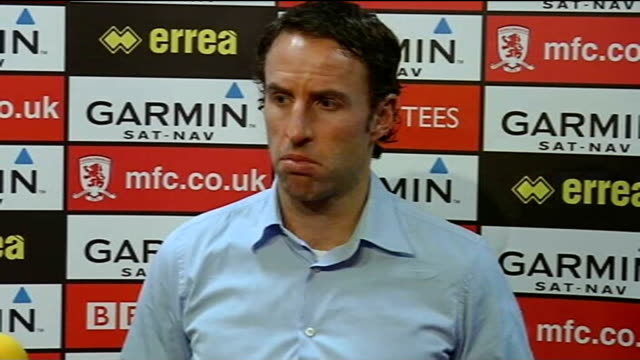 Middlesbrough tranfer speculation Gareth Southgate press conference SOT