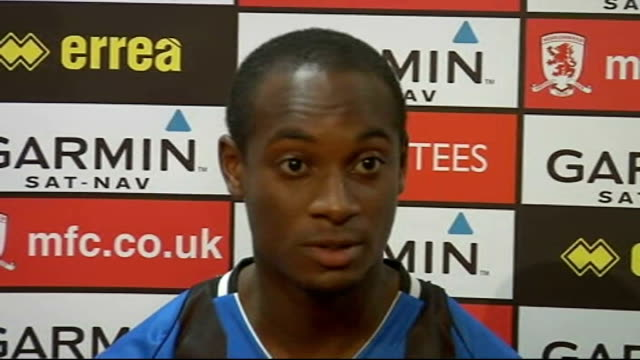 middlesbrough unveil justin hoyte int hoyte press conference setups hoyte press conference sot on reasons why he joined middlesbrough/great... - middlesbrough stock videos and b-roll footage