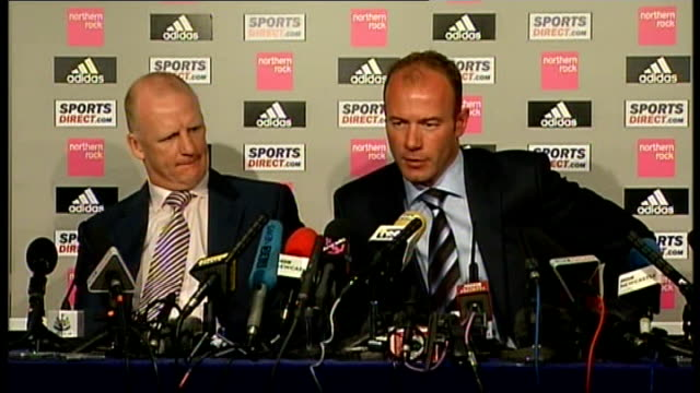Newcastle United Shearer unveiled as new manager Shearer press conference SOT Has always made it clear to BBC that he would like to enter football...