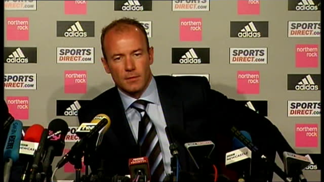 Newcastle United Shearer unveiled as new manager Shearer press conference SOT Returned because he loves Newcastle united and sees them in bad...