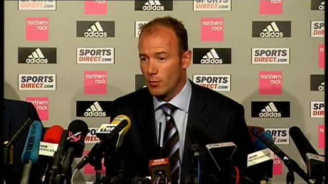 newcastle united: shearer unveiled as new manager; shearer press conference sot - biggest bonus is keeping club in premier league / doesn't hold... - biggest stock videos & royalty-free footage