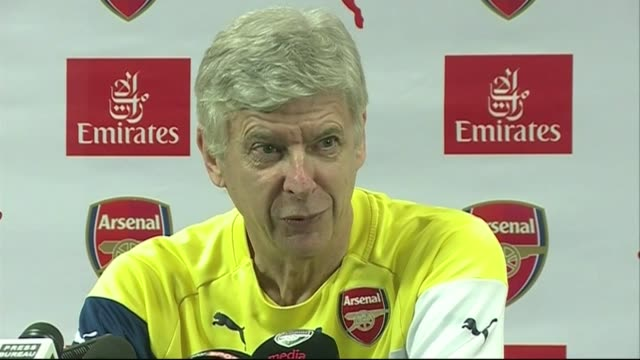 preview england london colney int arsene wenger press conference sot we haven't always lost / result on sunday will be down to the performance on the... - ジョゼ・モウリーニョ点の映像素材/bロール
