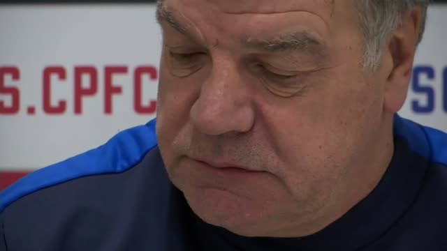 premier league preview; england: london: croydon: selhurst park: int sam allardyce into press conference / sam allardyce press conference sot - four... - sam west stock videos & royalty-free footage
