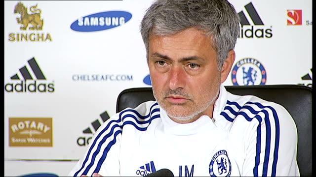 surrey cobham int jose mourinho press conference sot wait for sunday - コブハム点の映像素材/bロール