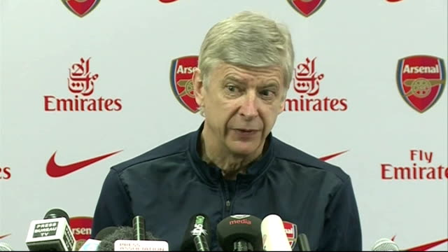 Preview of weekend matches ENGLAND London Emirates Stadium INT Arsene Wenger press conference SOT City has two games in hand and the two games are at...
