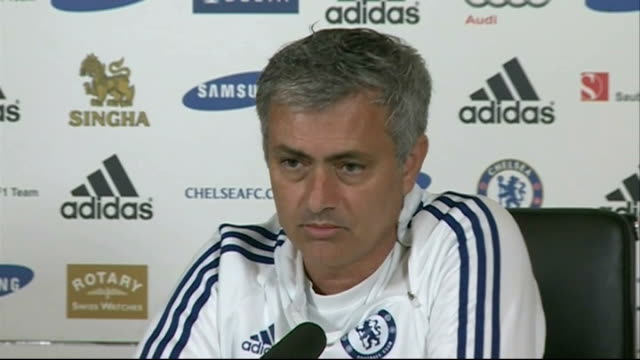 preview of weekend matches england surrey cobham int jose mourinho press conference sot two years ago chelsea finished 25 points behind the leader... - cobham surrey stock videos and b-roll footage