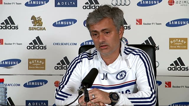 cobham int jose mourinho press conference sot - コブハム点の映像素材/bロール