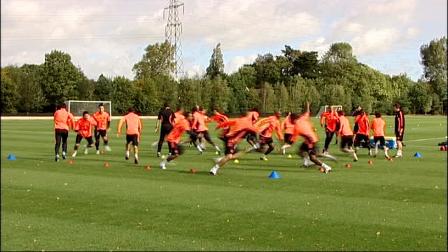problems faced by chelsea fc r12091106 england surrey cobham general view chelsea squad training villasboas watching - cobham training ground stock videos and b-roll footage