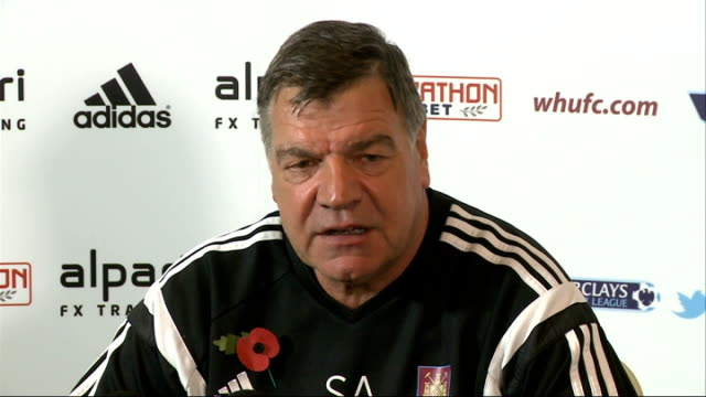 premier league weekend preview; essex: chadwell heath: sam allardyce press conference sot - sam west stock videos & royalty-free footage