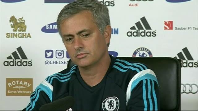 cobham jose mourinho press conference sot - コブハム点の映像素材/bロール