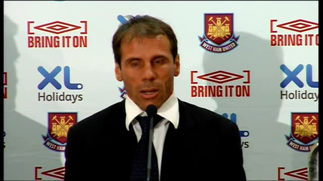 West Ham United Gianfranco Zola unveiled as manager Zola press conference SOT Respects work of Alan Curbishley and will try to carry on his good work...