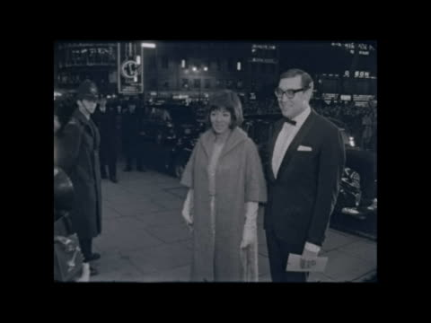 """premier of """"yellow rolls royce"""" film; england: london: empire cinema leicester square: ext margaret rutherford out rolls: yellow rolls royce: sean... - sean connery stock videos & royalty-free footage"""
