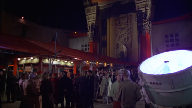 ms premier or preview crowd standing outside grauman chinese theater  - 1980 stock videos and b-roll footage