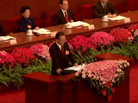 premier wen jiabao said on thursday china was facing unprecedented challenges from the global crisis but he was confident the country would still... - pct stock videos and b-roll footage