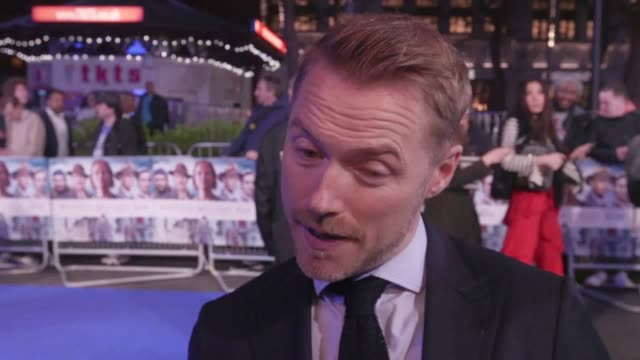 premiere of another mother's son in london's leicester square. interviews with ronan keating, jenny seagrove, julian kostov and izzy meikle-small. - ronan keating stock videos & royalty-free footage