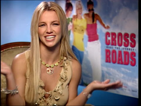 Premiere of Britney Spears film 'Crossroads' ENGLAND London Nannar interviewing Spears Britney Spears interviewed SOT That's nice who wouldn't like...