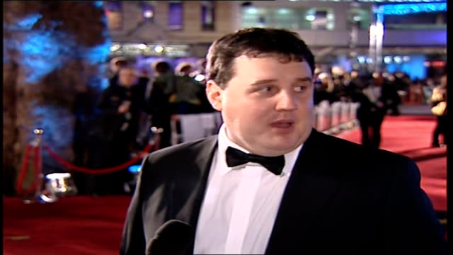 Premiere of 'Casino Royale' Peter Kay along on red carpet and speaking to press SOT On being a Bond fan/ On Craig as Bond and criticism of each Bond...