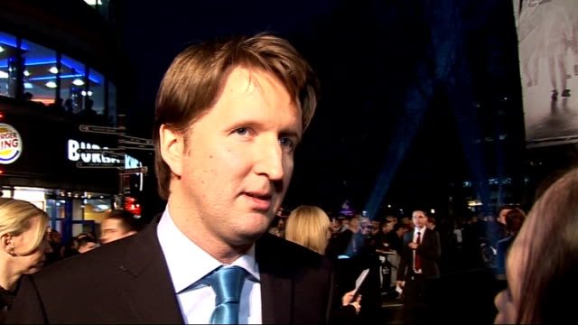 premiere of film 'the damned united' red carpet arrivals and interviews tom hooper interview sot on being pleased with film on michael sheen on the... - michael sheen stock-videos und b-roll-filmmaterial