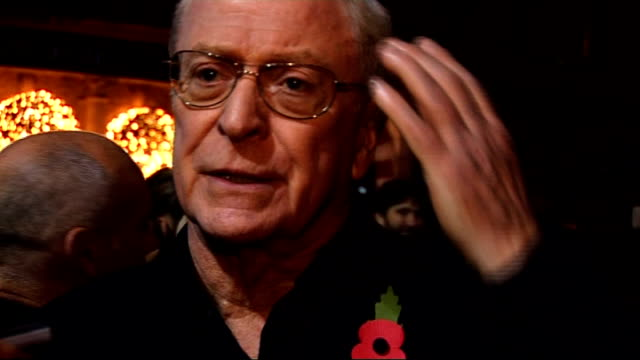 stockvideo's en b-roll-footage met premiere of 'harry brown' in london general views caine speaking to press sot sir michael caine interview sot on being really busy actually he has a... - autobiografie
