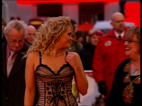 premiere of 'i want candy' film arrivals england london leicester square photography *** stephanie blacker arriving on red carpet for premiere of new... - corset stock videos & royalty-free footage