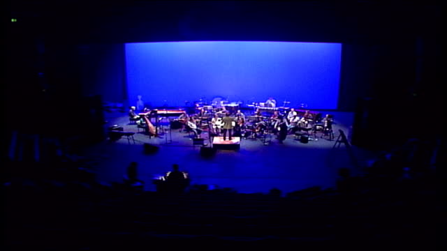 premiere of michael nyman and hanif kureishi collaboration ***all yorkshire leeds west yorkshire playhouse quarry theatre int london sinfonietta... - playhouse stock videos and b-roll footage