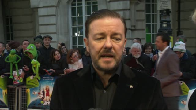 premiere of 'muppets most wanted' - ricky gervais stock videos & royalty-free footage