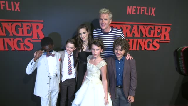 clean premiere of netflix's stranger things in los angeles ca - millie bobby brown stock videos & royalty-free footage