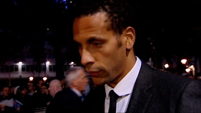 Premiere of new gangster film funded by Rio Ferdinand and Ashley Cole Ferdinand interview SOT On wanting to open a few doors for young people giving...
