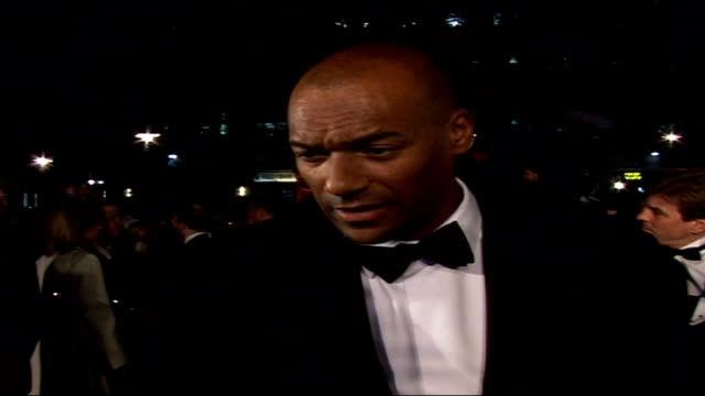 Premiere of new James Bond film 'Casino Royale' Colin Salmon speaking to press SOT On turnout for premiere/ On anticipation of Craig in film/ On...