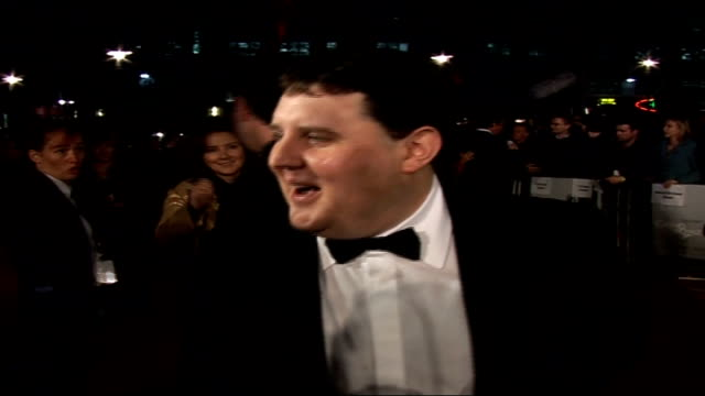 Premiere of new James Bond film 'Casino Royale' Peter Kay along on red carpet and speaking to press SOT as Patrick McGuiness posing for camera behind...