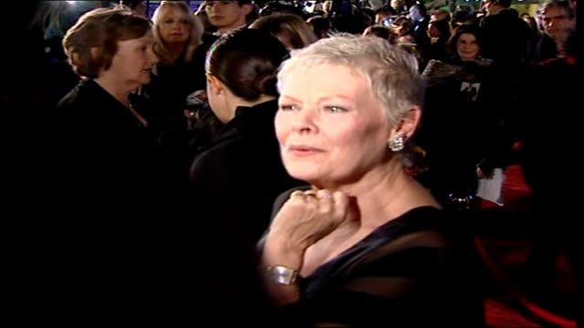 Premiere of new James Bond film 'Casino Royale' **PHONO INTERVIEW WITH CALUM MCDOUGALL PARTLY Dame Judi Dench speaking to press SOT On gadgets in...