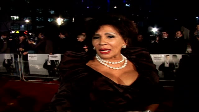 Premiere of new James Bond film 'Casino Royale' Shirley Bassey speaking to press SOT On what's she's doing for Christmas/ On advertisement for Marks...