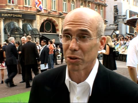 Premiere of 'Shrek the Third' Red carpet interviews ENGLAND London Leicester Square EXT Jeffrey Katzenberg interview SOT Same old green ogre but...