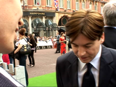 premiere of 'shrek the third' red carpet interviews mike myers speaking to press mike myers interview sot on playing shrek and doing animation on... - mike myers actor stock videos & royalty-free footage