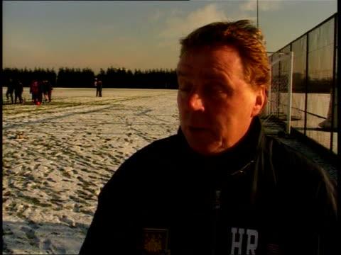 premiership football u'lay harry rednapp interview harry redknapp interview you've got to be positive / should be good place to go have an enjoyable... - ハリー レッドナップ点の映像素材/bロール