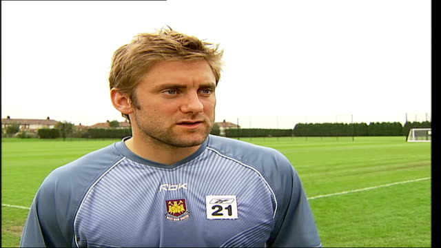 west ham upton park day robert green interview sot as premiership club going to place like that you've got to control the game and we didn't / sunday... - sonntag stock-videos und b-roll-filmmaterial