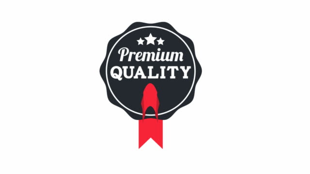 premium quality label - badge stock videos & royalty-free footage