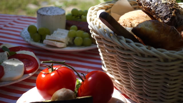 preparation for breakfast. - picnic basket stock videos and b-roll footage