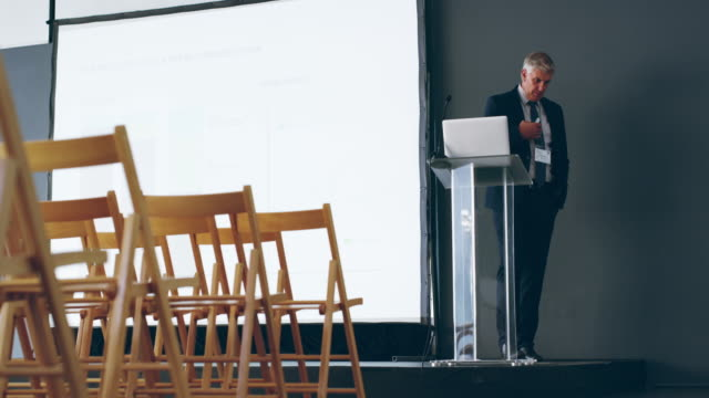 preparation is key to a knockout presentation - keynote speech stock videos and b-roll footage