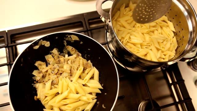 Vorbereitung von pasta